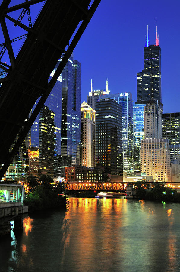West Loop From Kinzie Street Bridge Photograph by Bruce Leighty