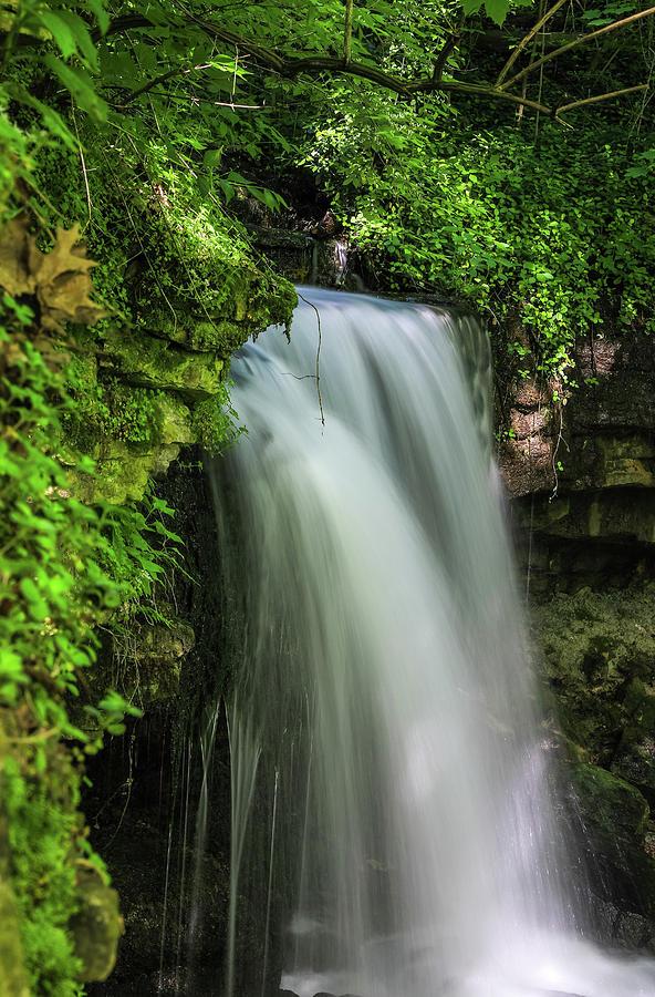 West Milton Falls In Green by Dan Sproul