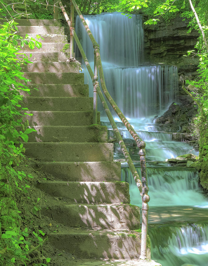 West Milton Waterfall Stairs by Dan Sproul