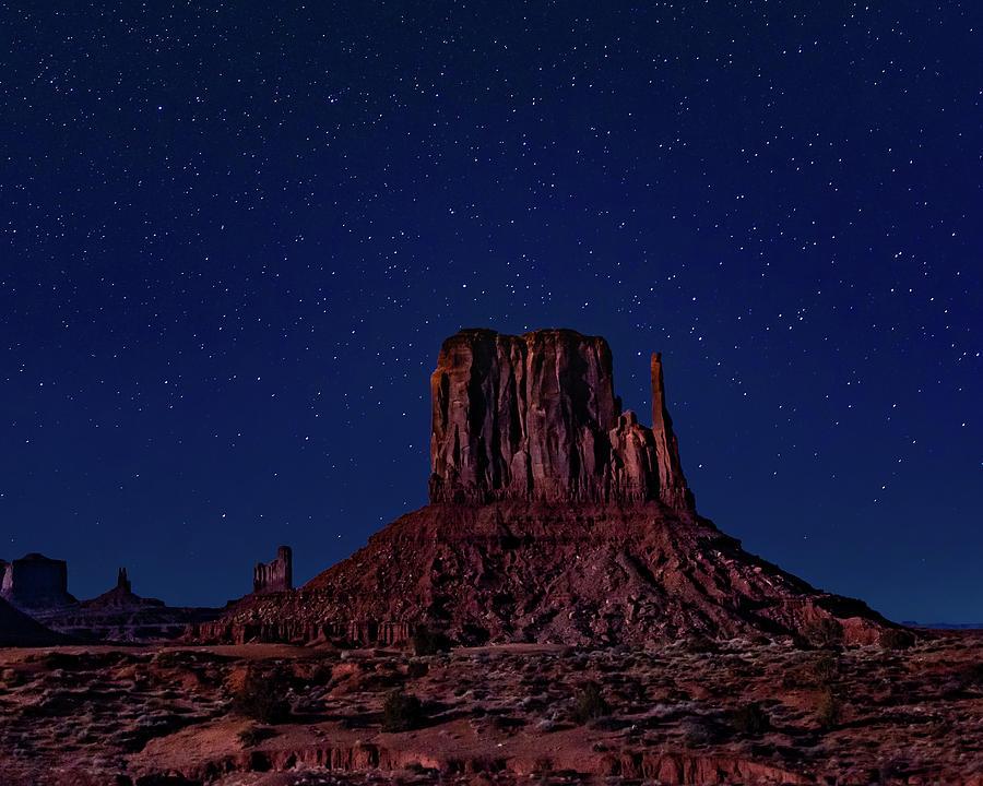 West Mitten under the Night Sky by William Christiansen
