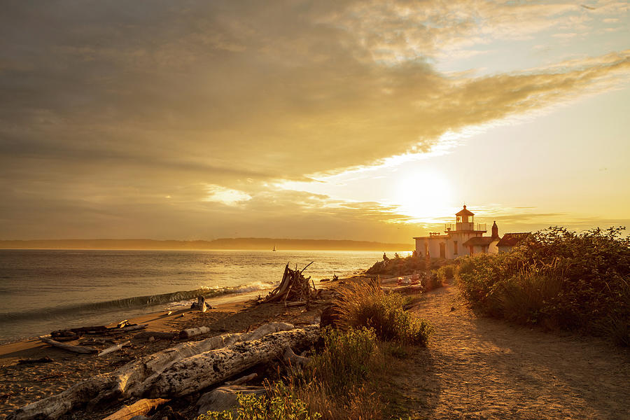 West Point Lighthouse Beach, Seattle by Michael Lee