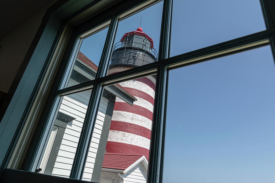 West Quoddy Head Light Photograph - West Quoddy Head Light by Bob Doucette
