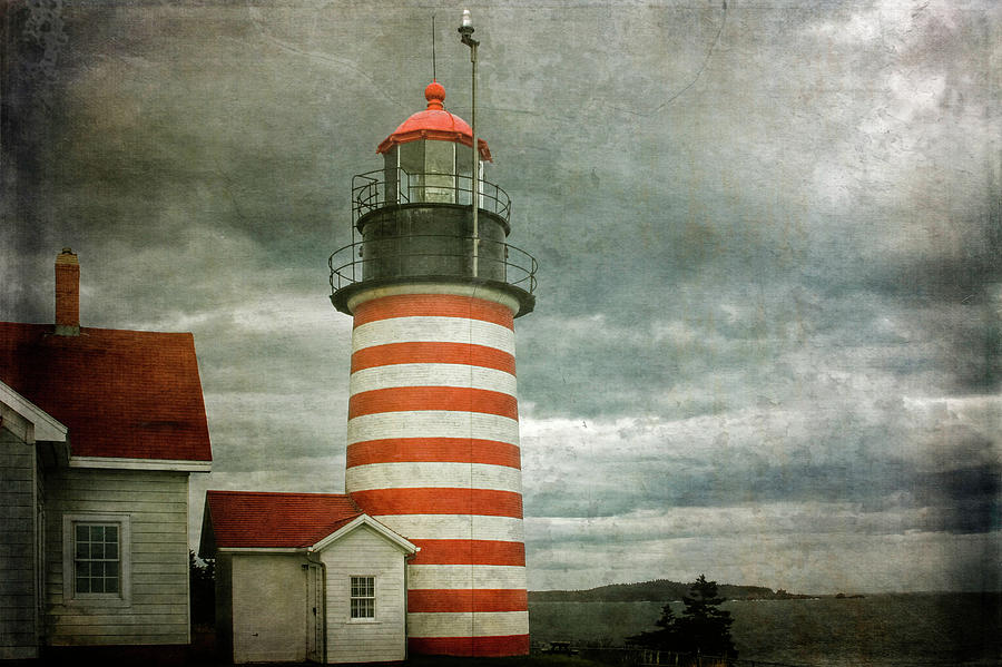 West Quoddy Head Lighthouse 2 by Cindi Ressler