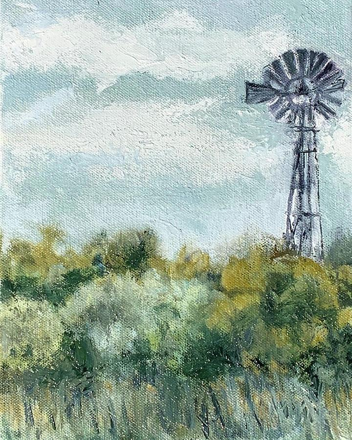 West Texas Windmill by Melissa Torres