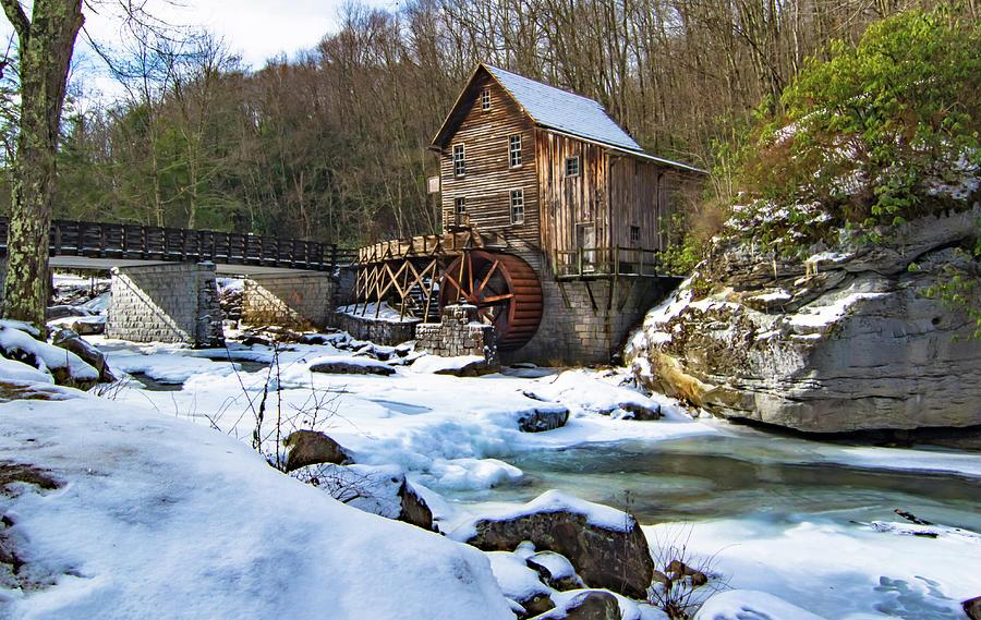 West Virginia Mill in Winter by Norma Brandsberg