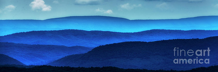 West Virginia Ridges of Blue by Thomas R Fletcher