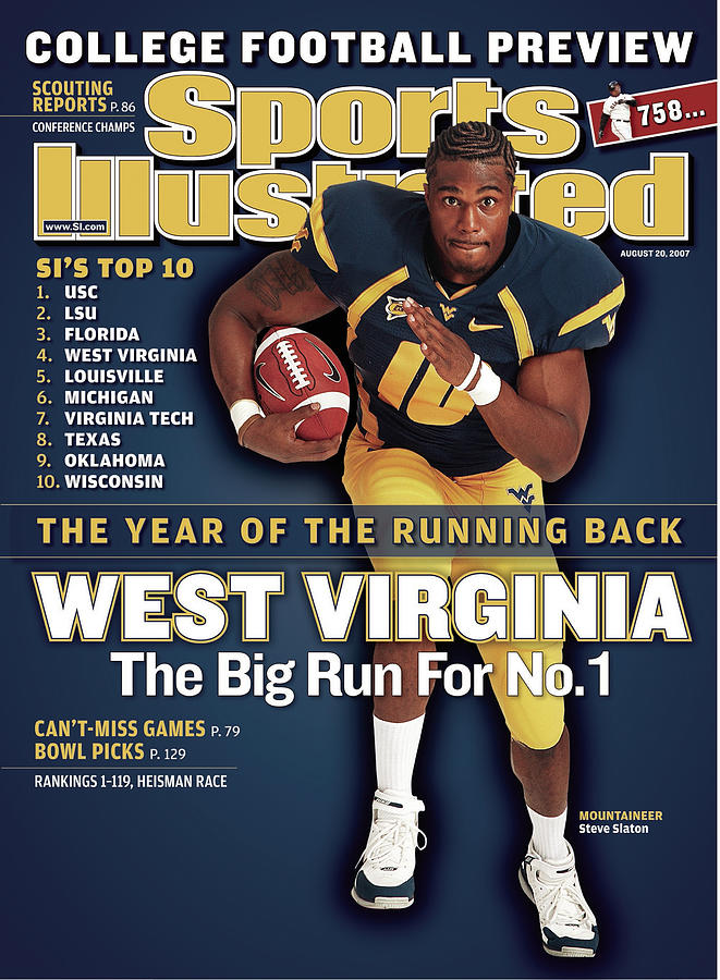 West Virginia Steve Slaton, 2007 College Football Preview Sports Illustrated Cover Photograph by Sports Illustrated