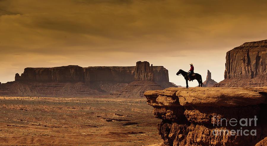 Western Cowboy Native American Photograph by Yinyang