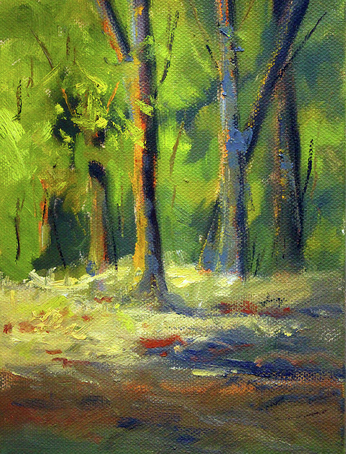 Western Forest Scene by Nancy Merkle
