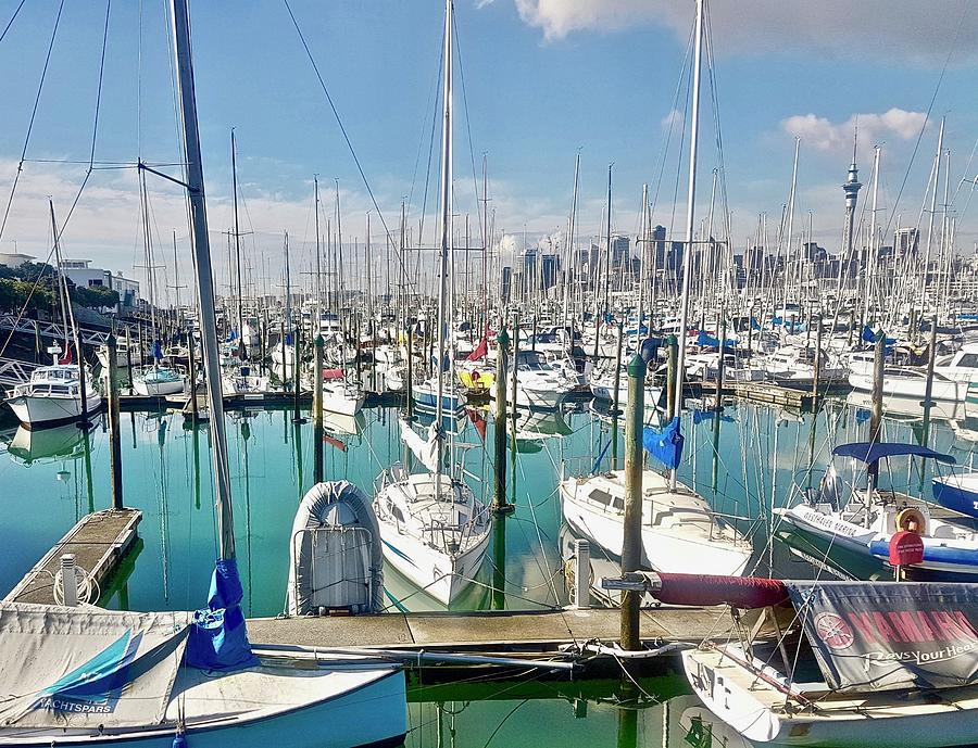 Westhave Marina Auckland CBD by Clive Littin