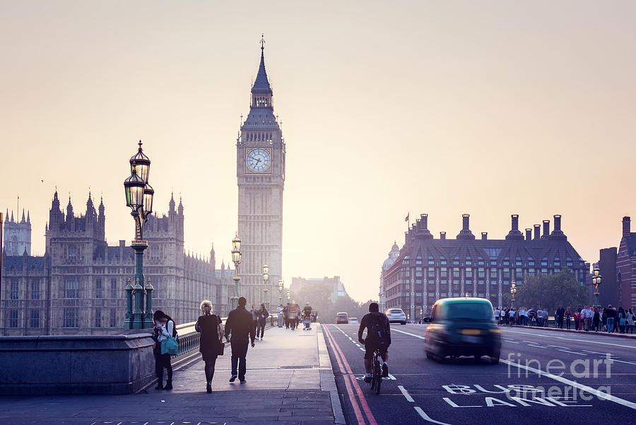 Big Photograph - Westminster Bridge At Sunset, London, Uk by Esb Professional