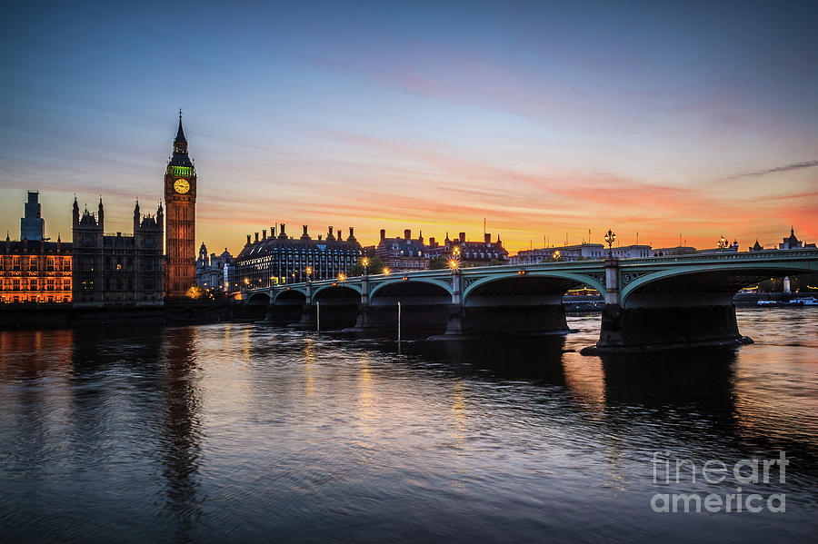 Westminster Sunset by Arnaldo Tarsetti
