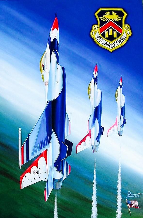 Thunderbirds Painting - Westover Salute by Peter Ring Sr