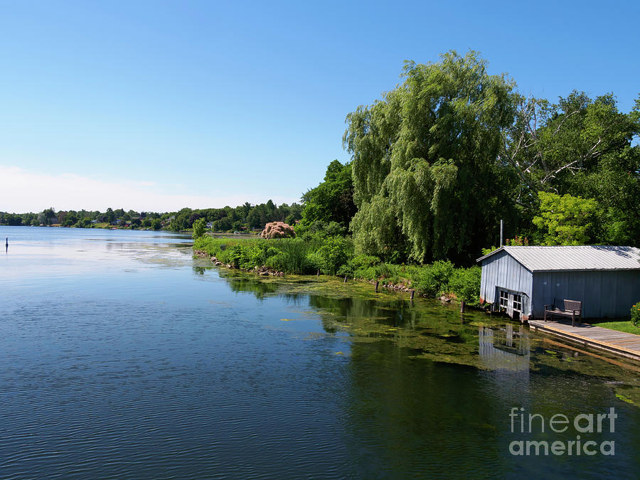 Shore Photograph - Westport Harbour On Upper Rideau Lake by Louise Heusinkveld