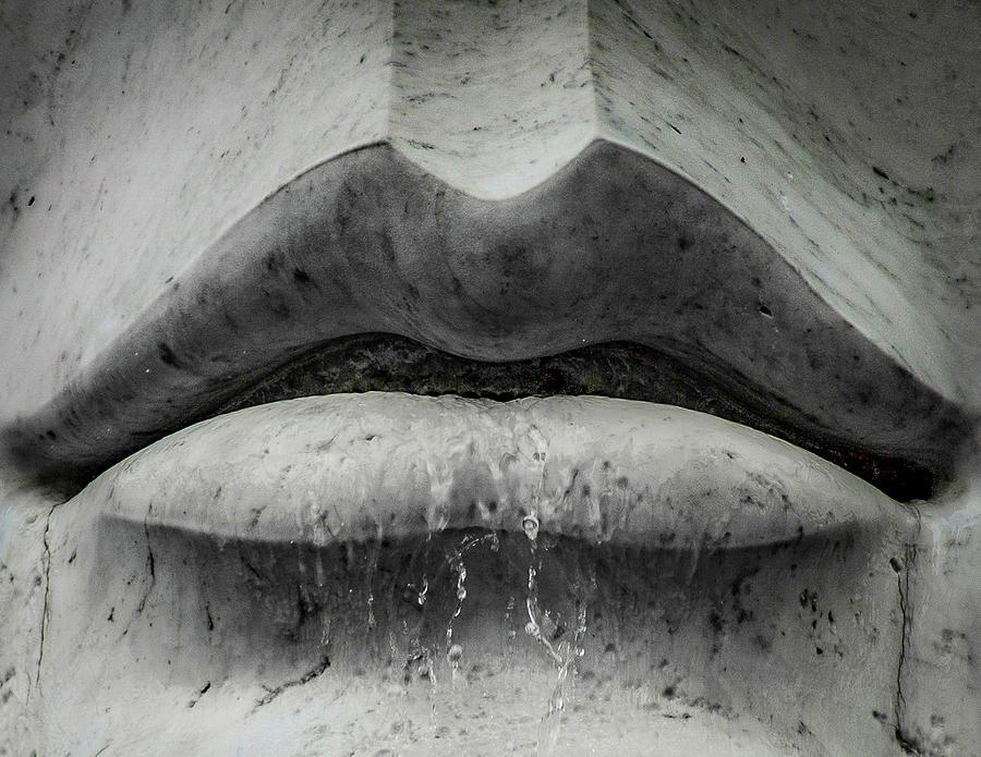 Statue Photograph - Wet Lips by Lora J Wilson