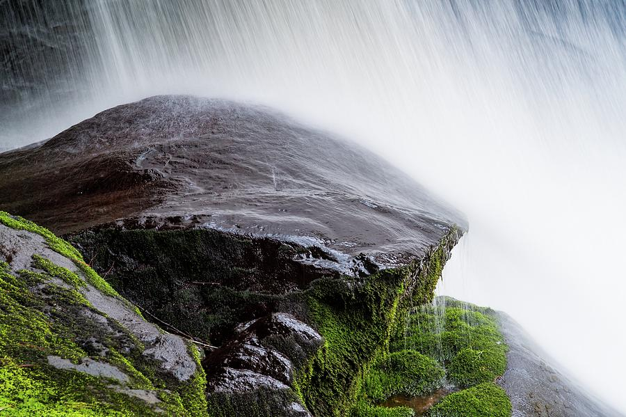 Wet Rock Under Waterfall by Chris Buff