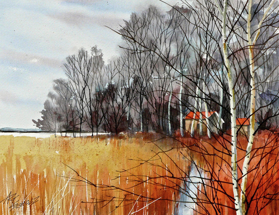 Landscape Painting - Wetlands Edge by Art Scholz