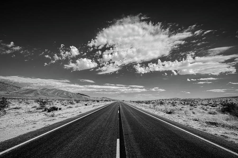 We've Been Down This Road Before - Black and White by Peter Tellone