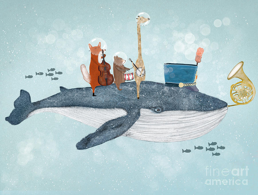 Whales Painting - Whale Song by Bri Buckley