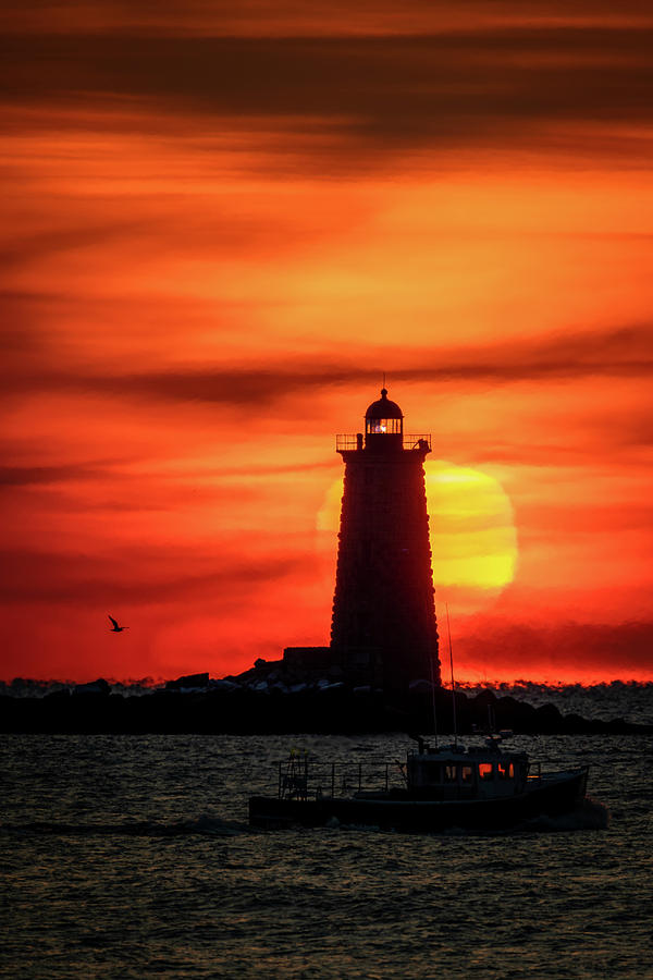 Whaleback Light Sunrise by Colin Chase