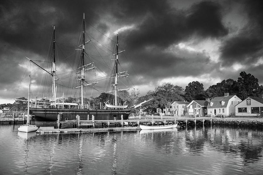 Whaler Charles W Morgan in Mystic Connecticut by Cliff Wassmann