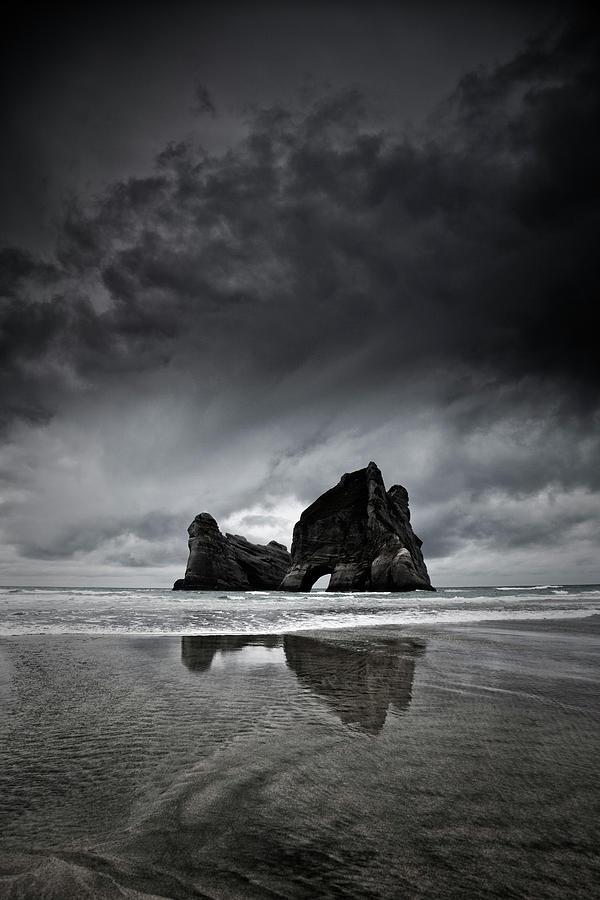 Wharariki Beach Photograph by Dan prat