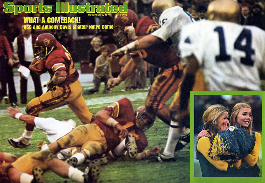 What A Comeback Usc And Anthony Davis Shatter Notre Dame Sports Illustrated Cover Photograph by Sports Illustrated