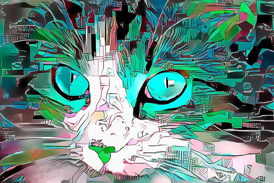 What Big Light Blue Eyes You Have Digital Art