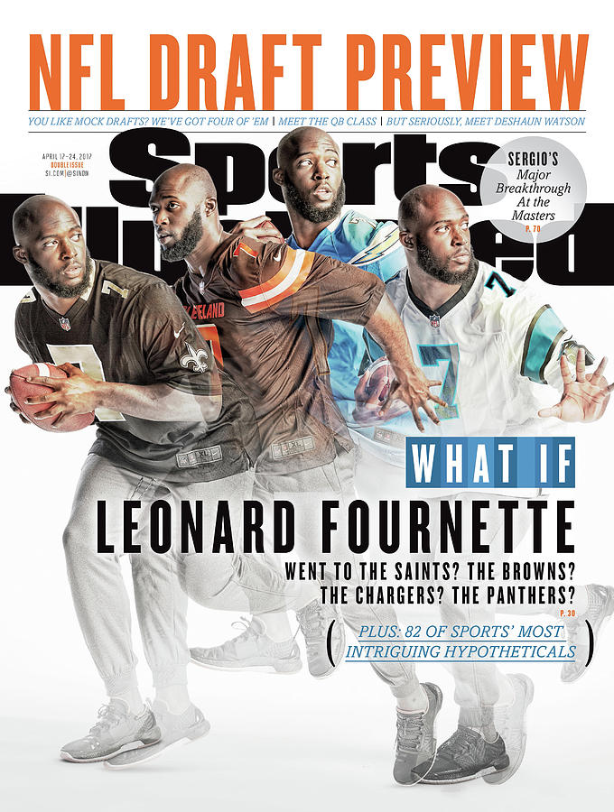 What If Leonard Fournette Went To The Saints The Browns The Sports Illustrated Cover Photograph by Sports Illustrated