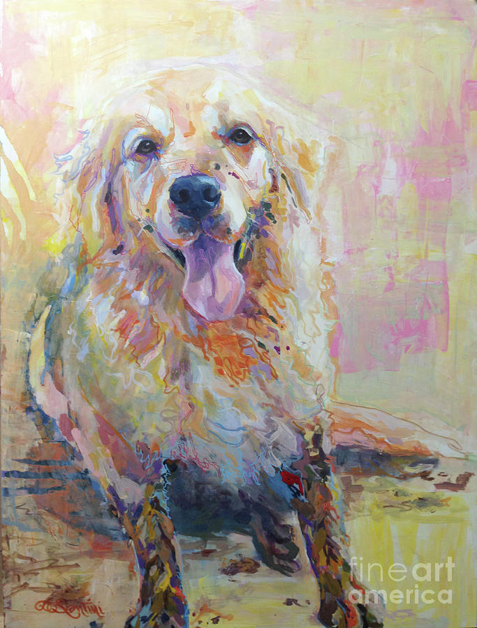 Golden Painting - Whats A Little Mud Reworked by Kimberly Santini