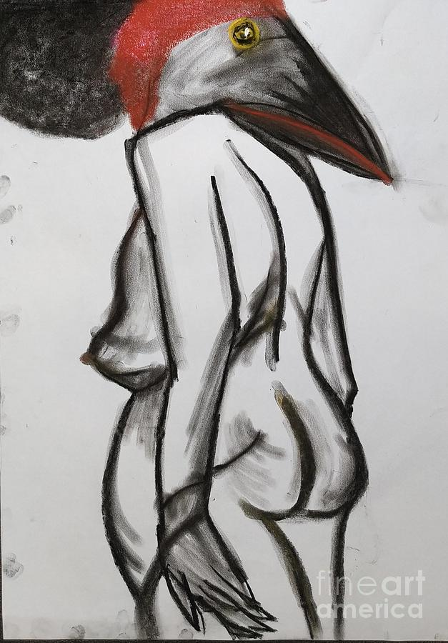 woman with red by Siobhan Dempsey