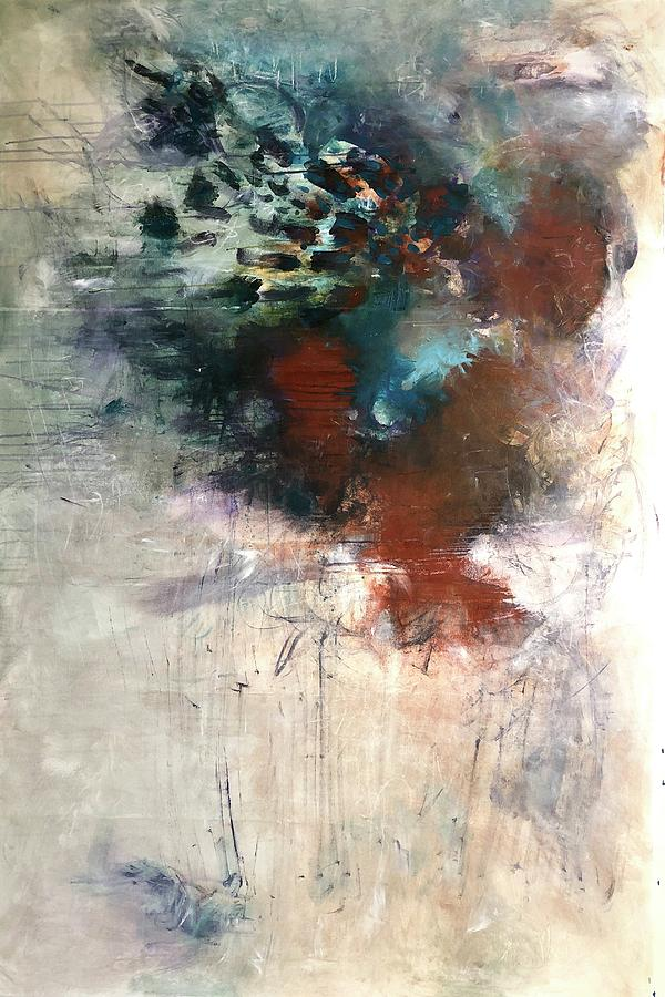 Abstract Painting - Whats In A Name by Laurie Maves ART