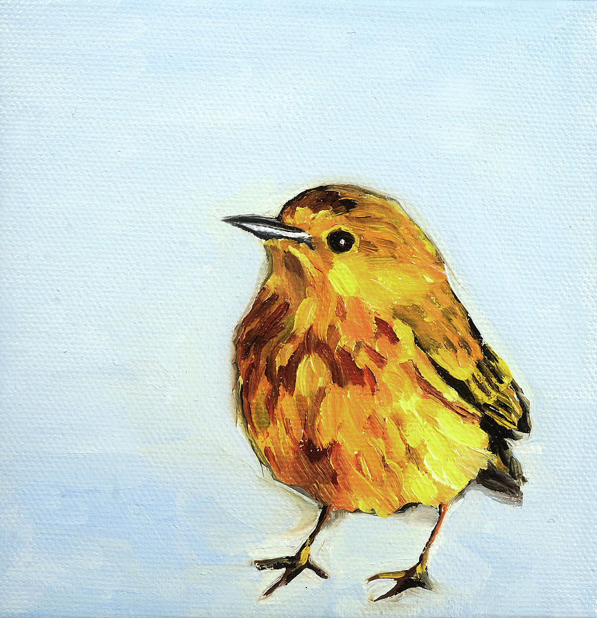 Yellow Warbler Painting - Whats Next? by Anne Lewis