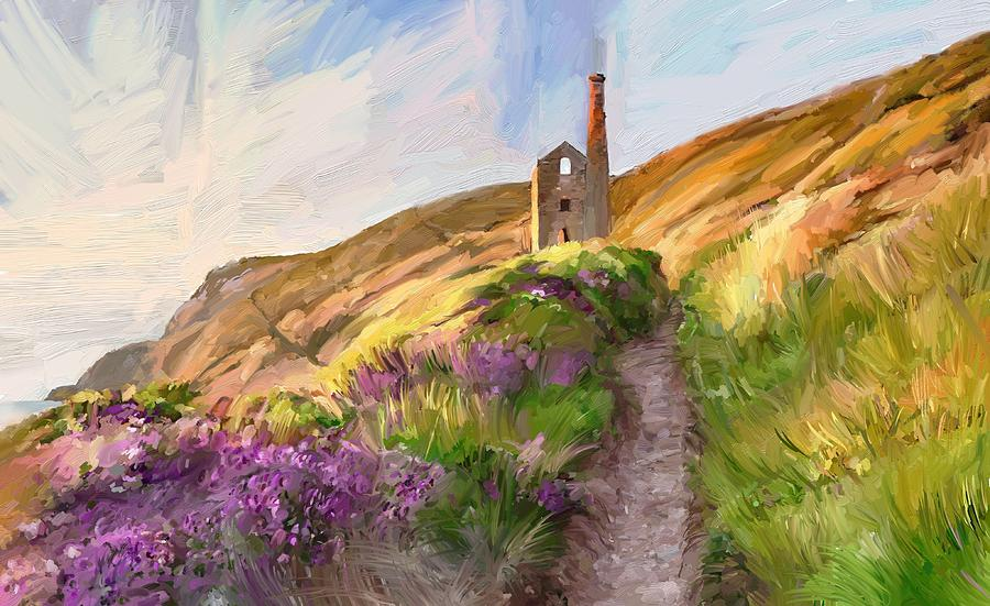 Wheal Coates - Cornwall  Digital Art by Scott Waters