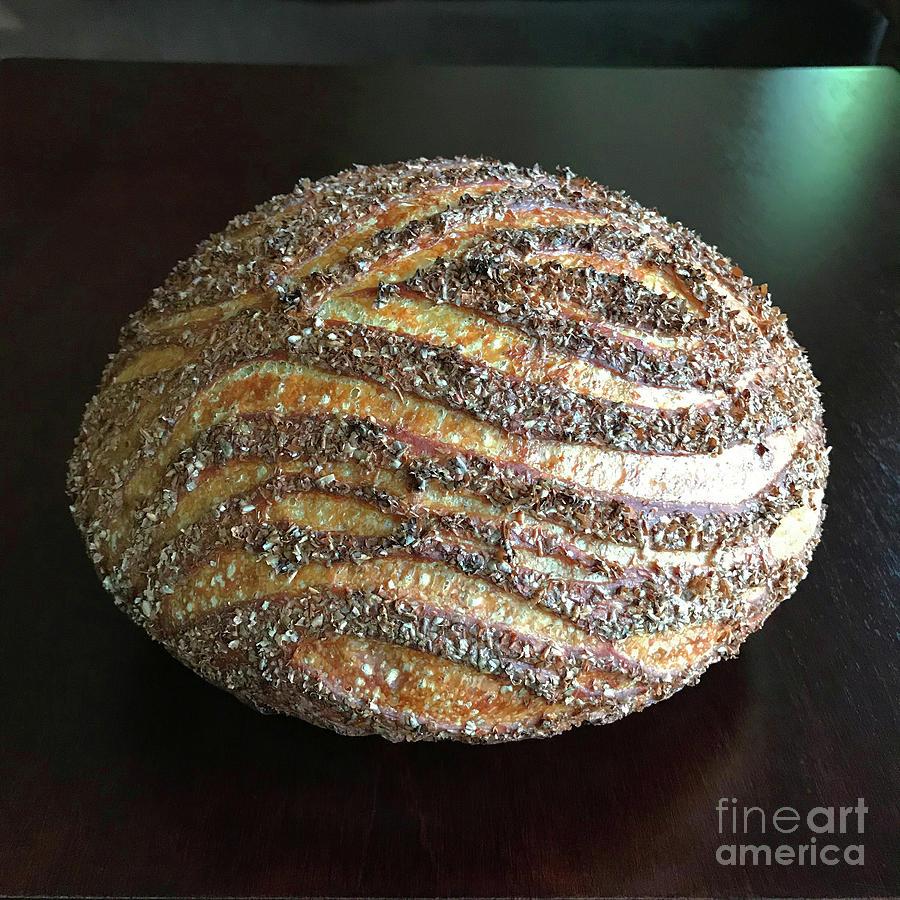 Wheat Bran Wood Grain Sourdough 2 by Amy E Fraser