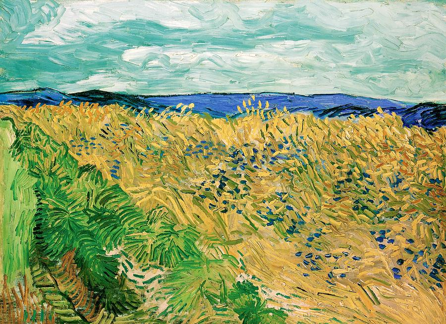 Vincent Van Gogh Painting - Wheatfield With Cornflowers - Digital Remastered Edition by Vincent van Gogh