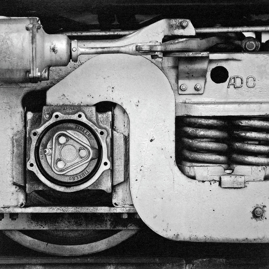 Horizontal Photograph - Wheel And Brake Of A Railcar by Panoramic Images