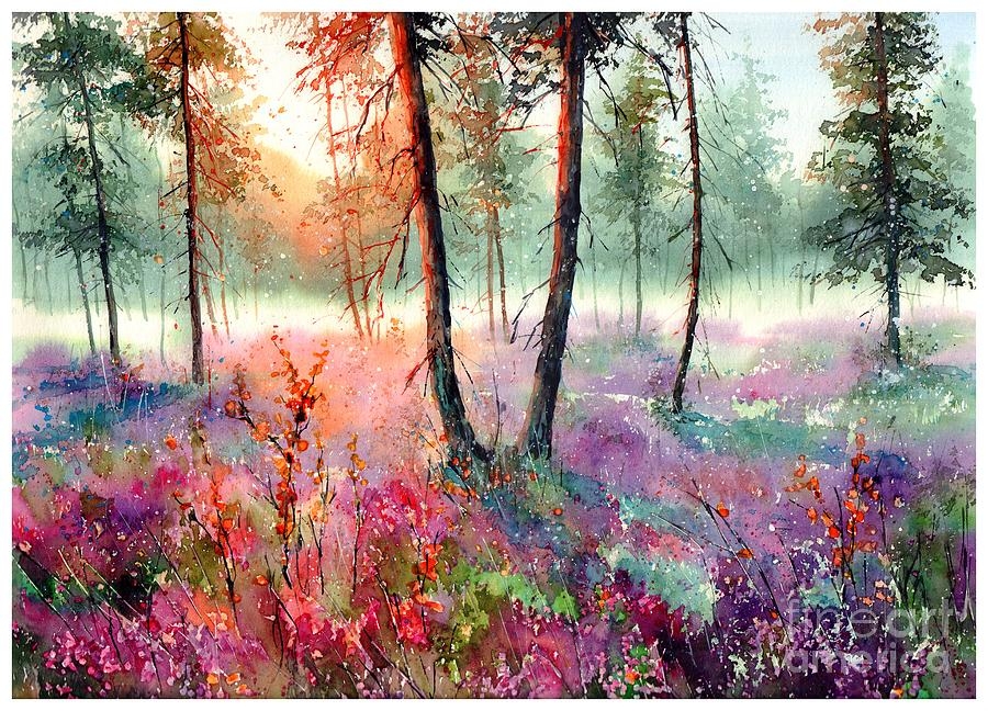 Wild Painting - When Heathers Bloom by Suzann Sines