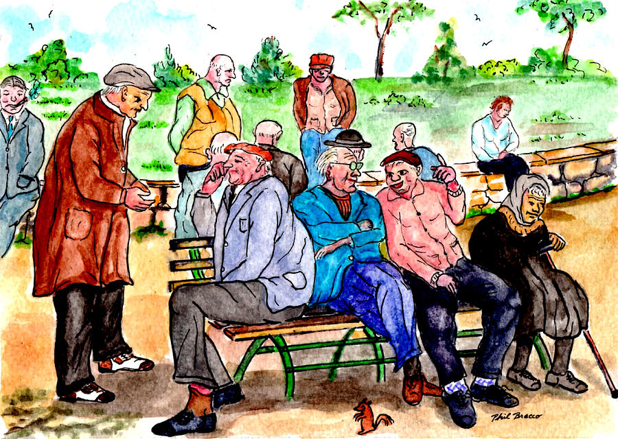 When Park Benches Were Filled With People by Philip Bracco