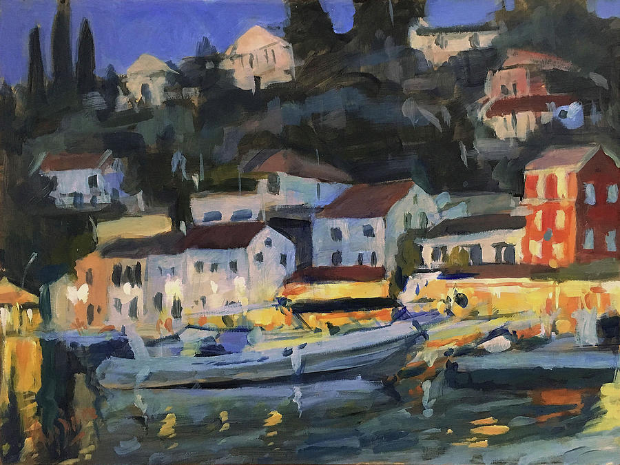 When the evening falls in Loggos by Nop Briex