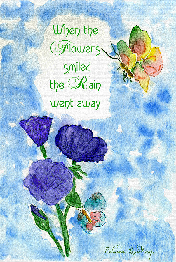 When The Flowers Smiled Painting