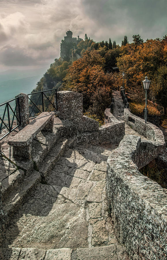 San Marino Photograph - When The Leaves Go Golden by Jaroslaw Blaminsky