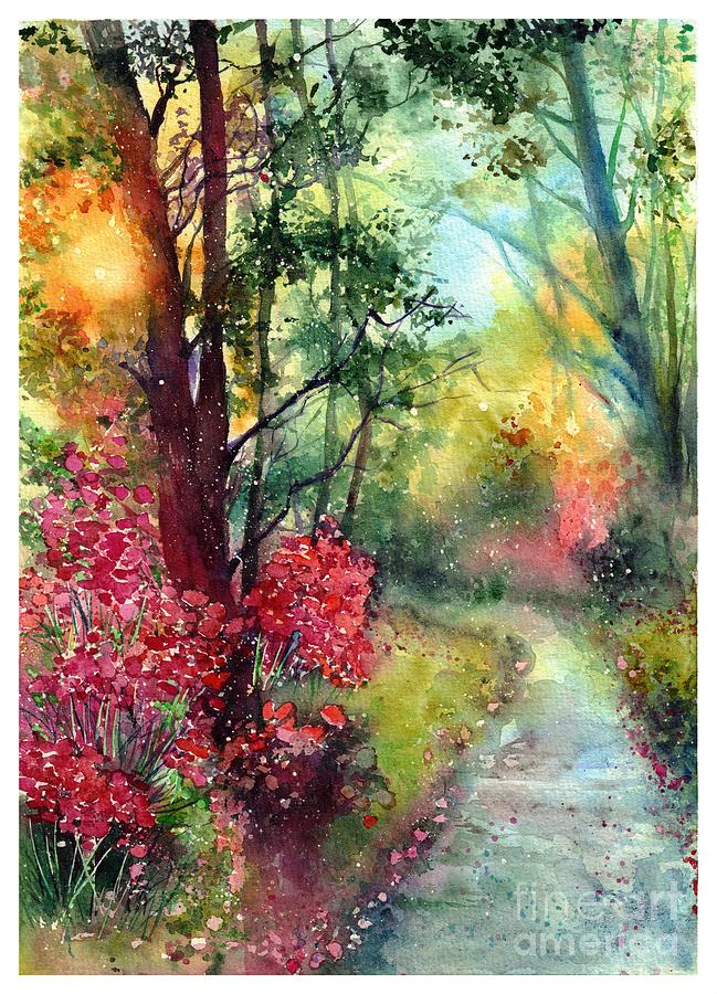 Nature Painting - Where Do We Go by Suzann Sines