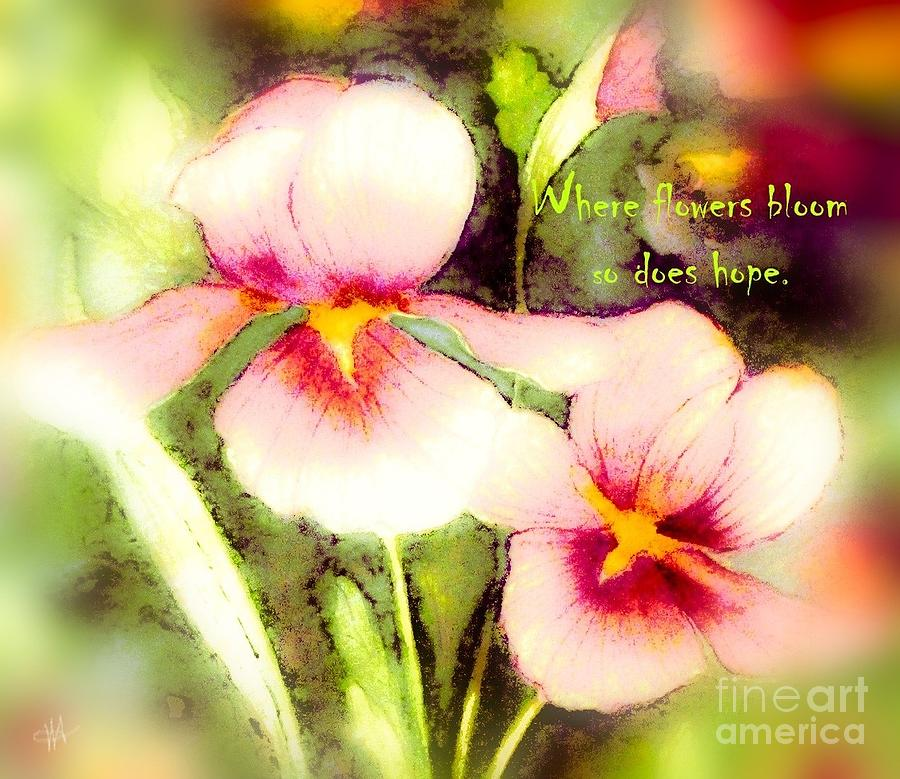 Where Flowers Bloom - Verse by Hazel Holland