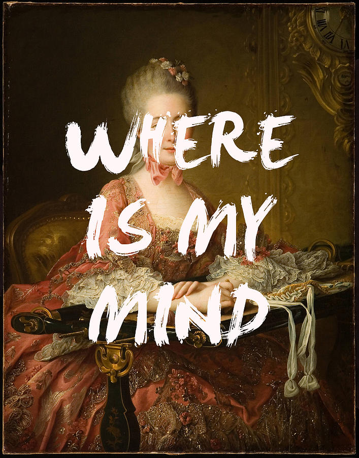 Where is My Mind Lyrics Print by Georgia Fowler
