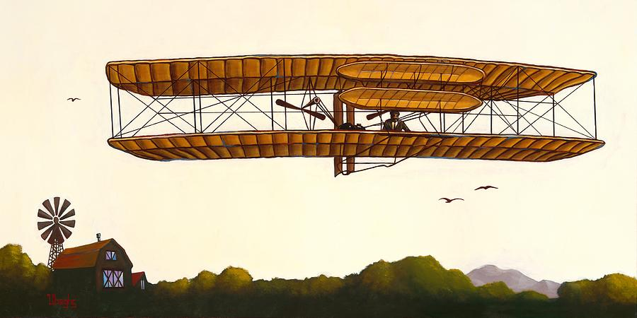 The Wright Brothers Painting - Where It All Began by Bryan Ubaghs
