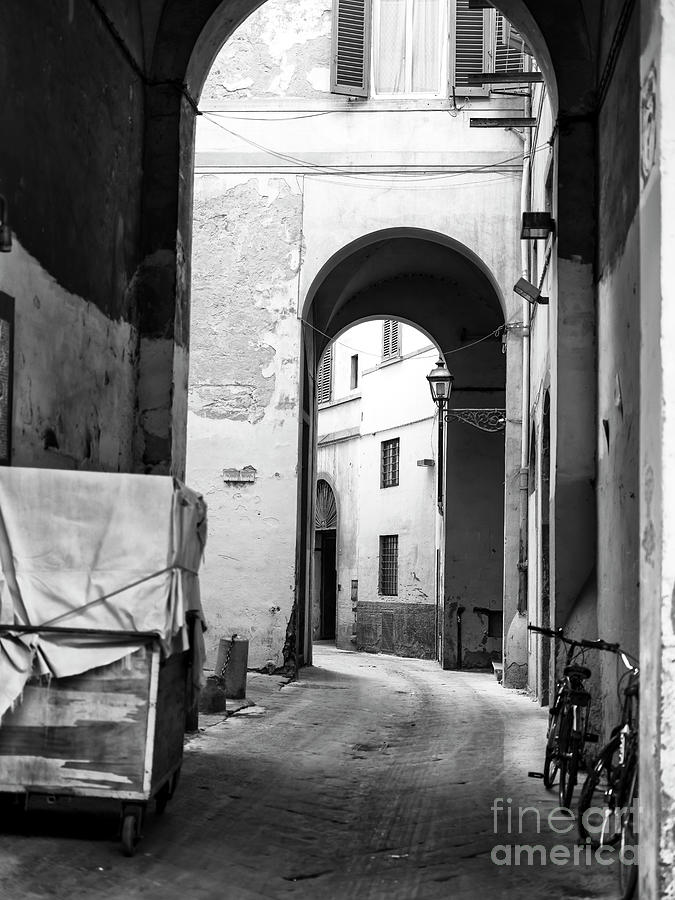 Street Photograph - Where The Path Leads Florence by John Rizzuto