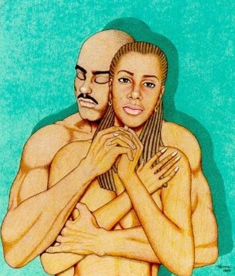 Romance Drawing - Where Umoja Begins by Jay Thomas II
