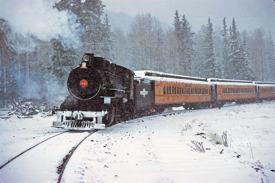 White Mountain Scenic Railroad Engine 36 September 1971 by Brian Lockett
