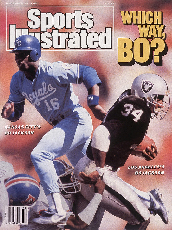 Which Way Bo? Bo Jackson Of Kansas City Royals And Los Angeles Raiders Sports Illustrated Cover Photograph by Sports Illustrated